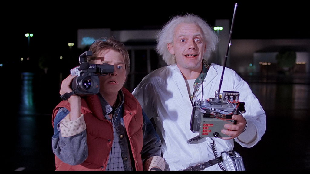 Marty and Doc in Back To The Future