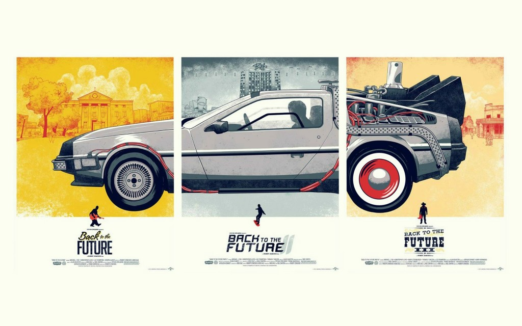 Back to the future - all 3 movies poster